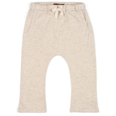 Baby or Child's Jogger Pant or Lounge Pant in the Organic Cotton Heathered Oatmeal Fabric by Milkbarn Kids