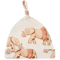 43071 - Bamboo Baby Knotted Hat or Beanie in the Tutu Elephant Print by Milkbarn Kids