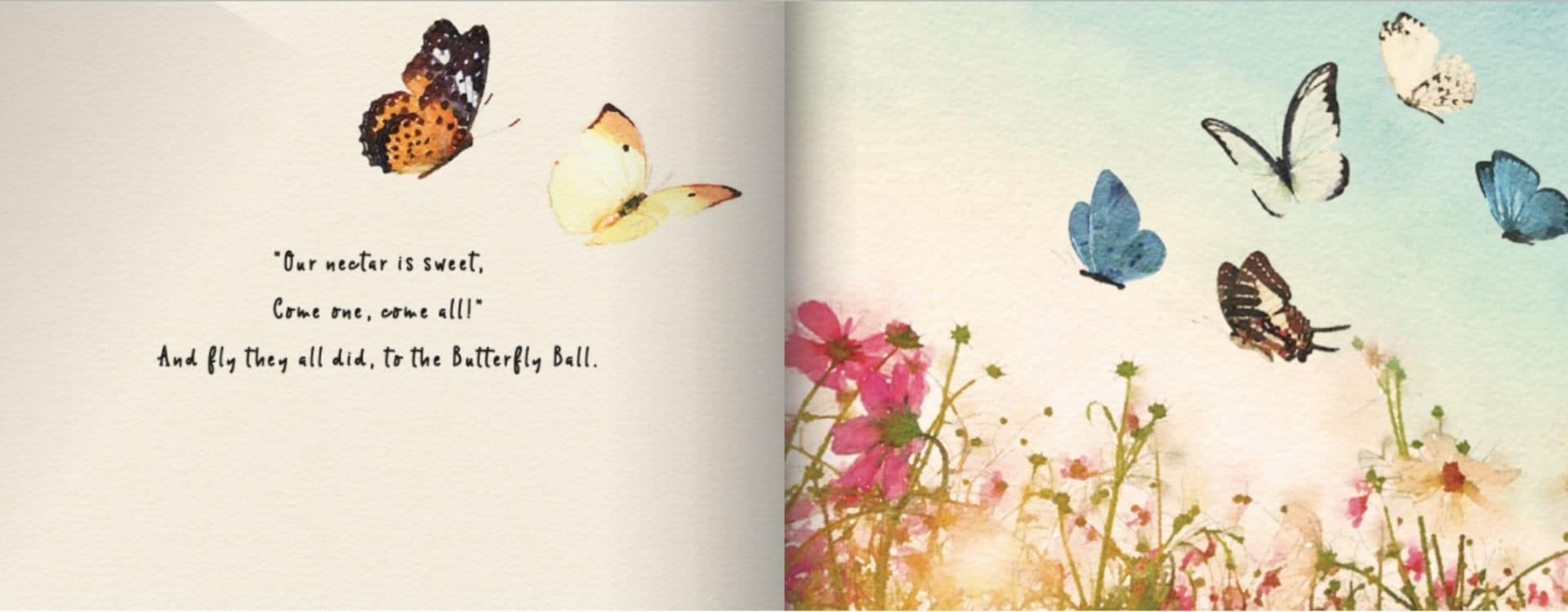 The Butterfly Ball by Kathryn Trainor for Milkbarn Kids Sample Page 2