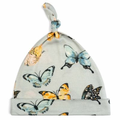 Butterfly Bamboo Knotted Hat by Milkbarn Kids